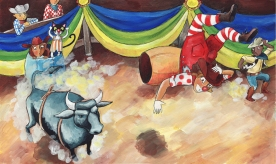 Mommy's 26 Careers- rodeo clown