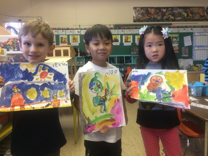 kids with art